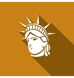 statue liberty new york landmark american vector image