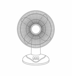 table fan thin line style vector image