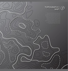 Topographic line map abstract topographic map vector