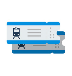 train tickets flat isolated on white vector image