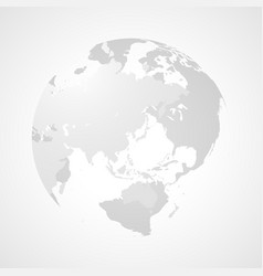 transparent sphere of a world map vector image