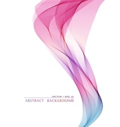 Wavy abstract bacground vector image