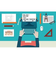 Website development and programming vector