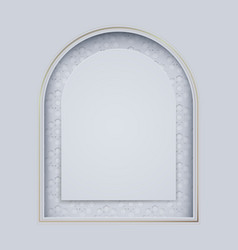 white and gold islamic mosque door with arabic vector image