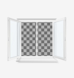 White open office plastic window window front vector