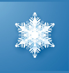 white paper snowflake new year and christmas vector image