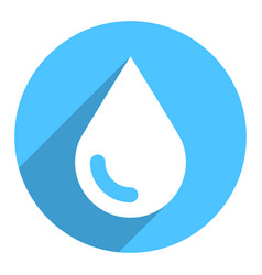 White water drop sign circle icon vector