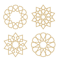 A set of stars in the arab style vector