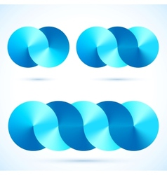Abstract infinity disks symbols vector image