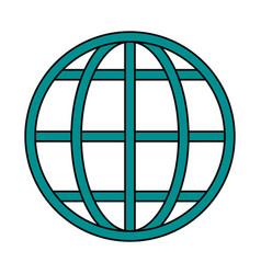 earth globe diagram icon image vector image