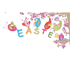 easters and spring design vector image