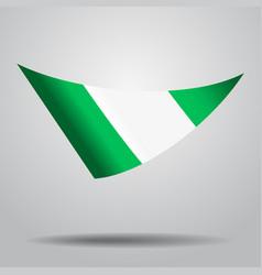 Nigerian flag background vector