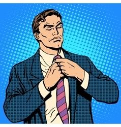 The proud man businessman vector