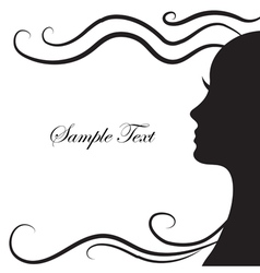 Abstract silhouette of a girl in profile vector image vector image