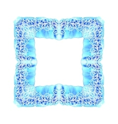 Abstract square ornamental border frame vector image