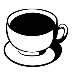 cup of coffee icon cartoon vector image