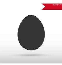Egg Icon Easter concept vector image vector image