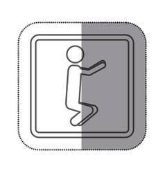 figure person doing squats icon vector image
