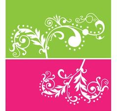 floral vines vector image