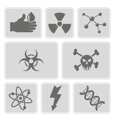 monochrome set with science icons vector image vector image