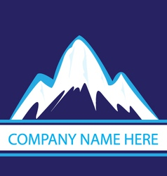 Mountains in navy color logo vector image