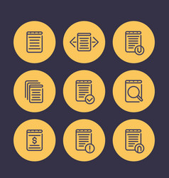 reports account records finance documents line vector image