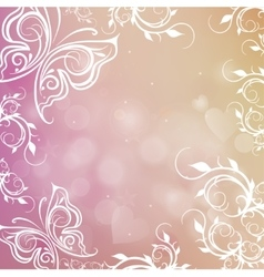 romantic shiny blurred background with vector image