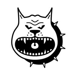 angry dog vector image vector image