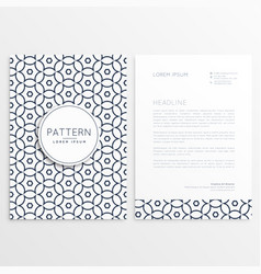 company letterhead design in simple style and vector image