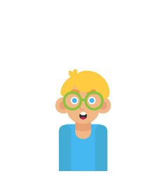 cute bright boy funny isolated vector image