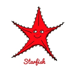 Cute cartoon starfish vector image vector image
