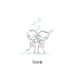 lovers vector image vector image