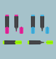 permanent text highlight marker in three vector image
