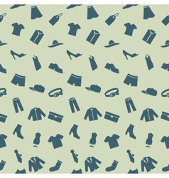 Seamless pattern with clothes footwear and vector image vector image