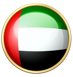 united arab emirates flag on round icon vector image vector image