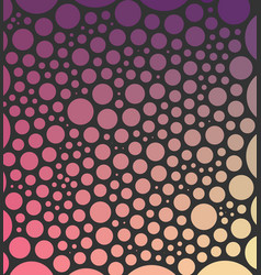 Abstract background made from circles on dark vector