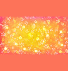 Background of flowers and sun glares vector