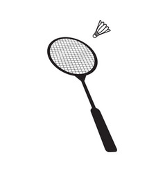 badminton icon design template isolated vector image