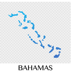Bahamas map in north america continent design vector