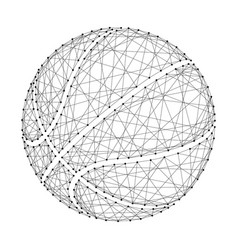 basketball ball from abstract futuristic vector image