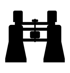Binocular simple icon vector image
