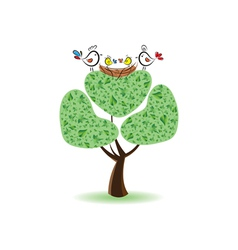 Birds on the tree vector