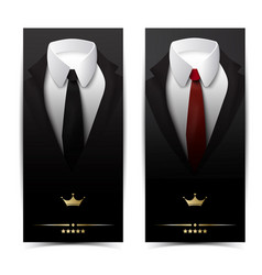 Business clothing vertical banners vector