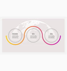 Business infographics timeline with 3 options vector