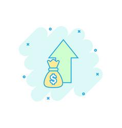 Cartoon money trending icon in comic style money vector