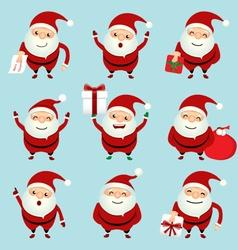 Collection of christmas santa claus vector