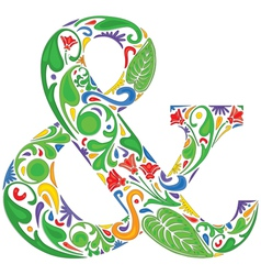 Colorful ampersand vector