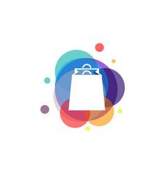 colorful shopping logo sale bag logo designs vector image