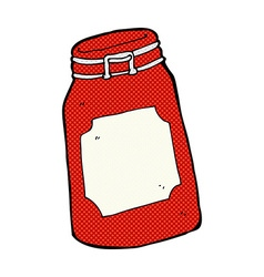 Comic cartoon jar vector