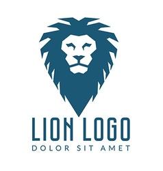 Company logo design lions head template logotype vector